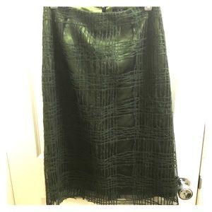 RARE Mohair textured green BCBGMAXAZRIA skirt