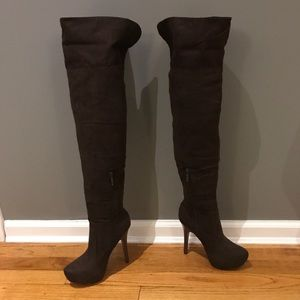 NWT over the knee faux suede boots
