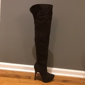 Shoes - NWT over the knee faux suede boots