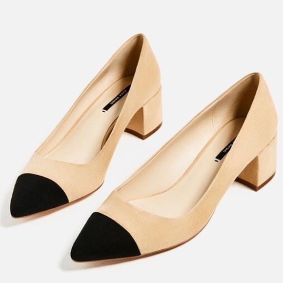 0b4e288a98b Zara cap toe block heels. M 5a26293e4e95a3cc85009894