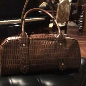 Kenneth Cole reptile design Leather Bag