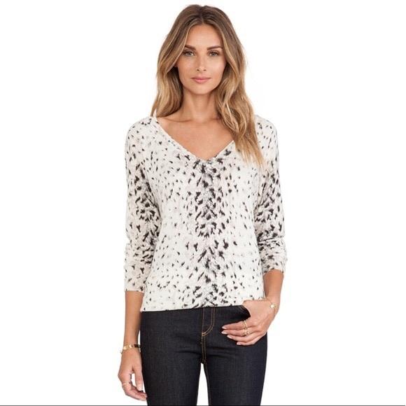 ab7deb6830de Joie Sweaters | Brooklyn Vneck Snow Leopard Print Sweater | Poshmark