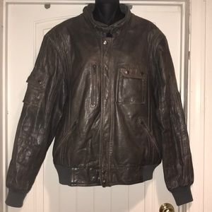 Steinmark vintage bomber leather coat size 46