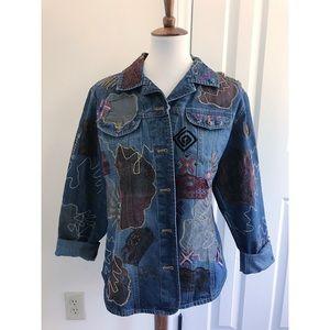 Chico's vintage oversized denim jacket