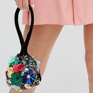 Asos 3D flower pouch bag