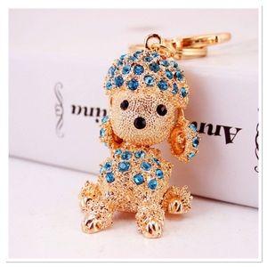 Jeweled Poodle Purse Charm