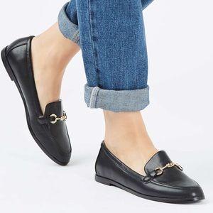 Topshop Black Loafers US 8.5