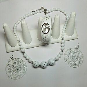 Jewelry - BUNDLE White Jewelry Set