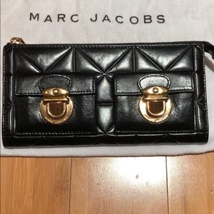 Marc Jacobs calf leather zip clutch