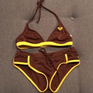 Roxy boy shorts bikini set
