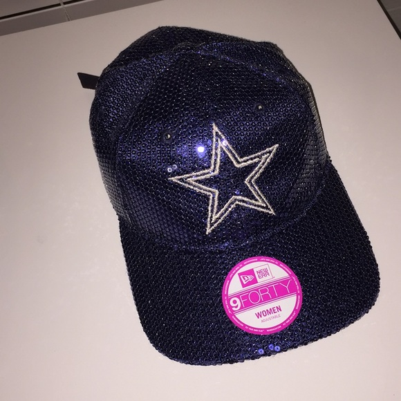 NFL 9 Forty adjustable sequin Dallas Cowboy hat bbedb0245