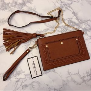Melie Bianco Sawyer Flat Tassel Crossbody Bag
