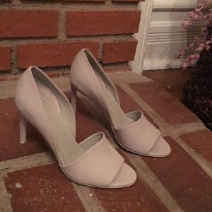 VINCE. Suede open toe pumps size 7