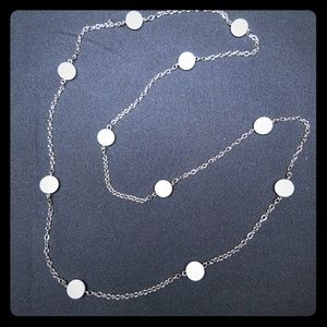 Jewelry - 💎3 for $10💎 White Bead Long Station Necklace