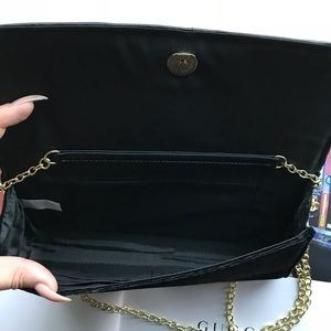 how to orders 2019 professional buy best New Guess Black Velvet Purse Clutch Bag On A Chain NWT