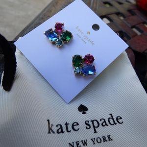 KATE SPADE Multi Color Cluster Stud Earrings