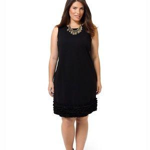 Black elegant holiday sleeveless cocktail dress