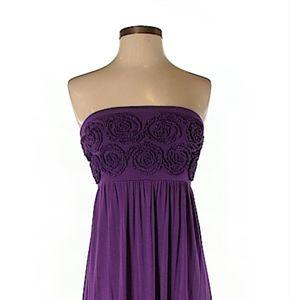 Design history strapless maxi dress