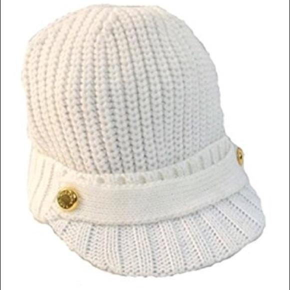 New NWT Michael Kors Knit Newsboy Cap Hat ef6cf4ee2c5