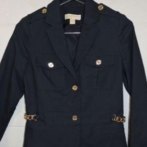 Michael Kors Navy Military Style Jacket size 4