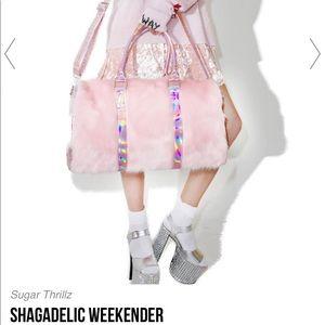 3c6ad3fc39 sugar thrillz Bags - sugar thrillz dollskill pink weekender faux fur