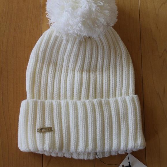 56d5e170235 CALVIN KLEIN Knit Pom Pom Hat CREAM
