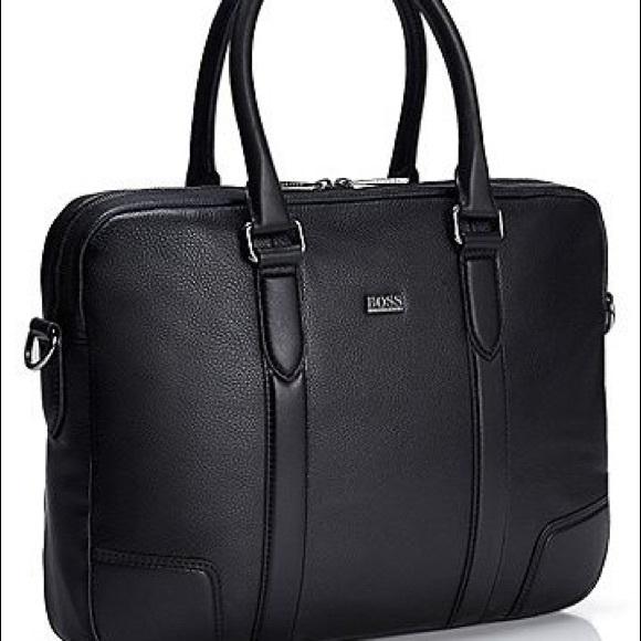 4fa9ac0091d Hugo Boss Other - Hugo Boss Morval 50261682 Leather Messenger Bag