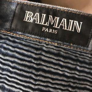 Size 34 Balmain  biker jeans men's
