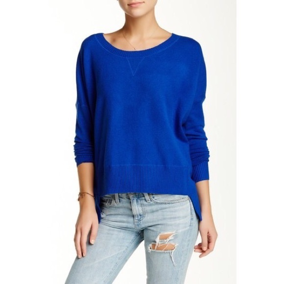 French Connection Sweaters - French Connection - Ribbed Trim Hi-Low Sweater
