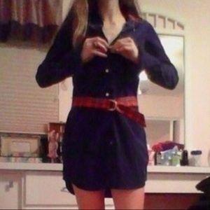 Navy corduroy belted Ralph Lauren dress