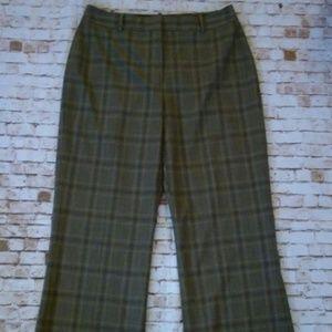 Antonio Melani Brown Windowpane Plaid Pants size 6