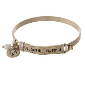 Texas Navigation Coordinate BraceletBoutique for sale