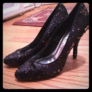 WHBM sequin heels. Size 7