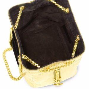 4a56c65812 Yves Saint Laurent Bags - YSL Emmanuelle Black Gold Bucket Shoulder Bag