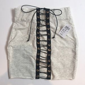 NEW Lace Up Mini Skirt