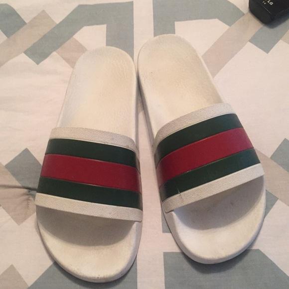 d2226bfa5 Gucci Shoes | Pursuit 72 Rubber Slides White | Poshmark
