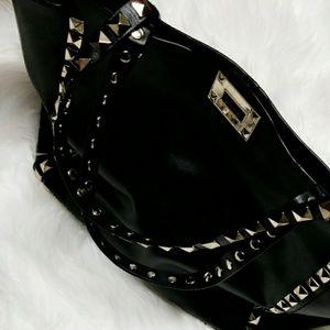 Handbags - Studded Leather Tote Bag