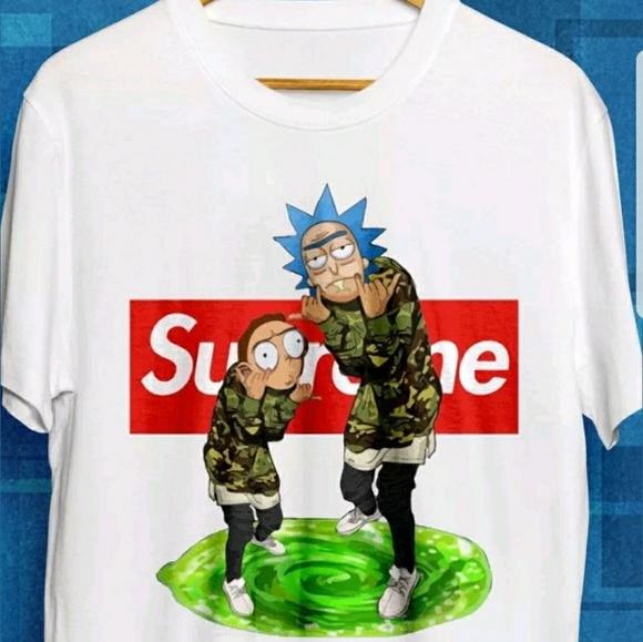 Rick And Morty Rick Swoosh Kid/'s T-Shirt
