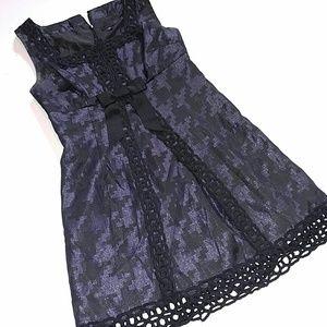 Anna Sui purple black jacauard shimmer dress 11