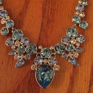 Givenchy Silver-Tone Faceted Necklace