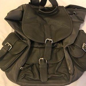 Gray fashion backpack