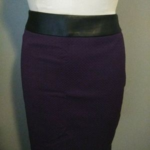 *THE LIMITED* NEW PURPLE WAFFLE SKIRT W/BAND
