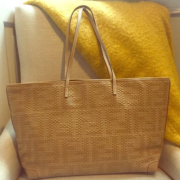 e1002b6d1371 Fendi Handbags - •Fendi• Zucca Woven Medium Roll Tote