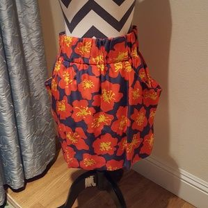 Dolce Vita Floral Print Skirt size small