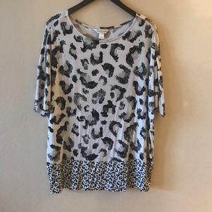 {C&B} Leopard Knit Shirt