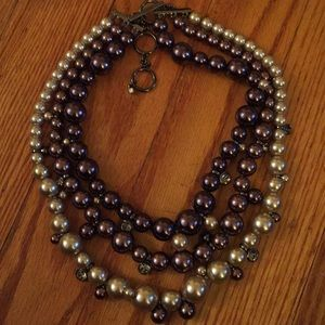 Givenchy pearl and crystal collar necklace