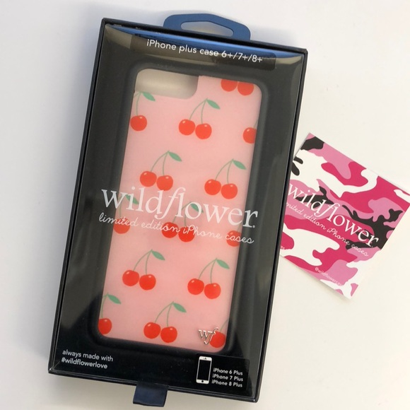 reputable site 839bb 168ea Wildflower Pink Cherries iPhone 6/7/8 Plus Case NWT