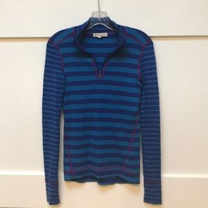 Warm wool knit 1/4 zip top