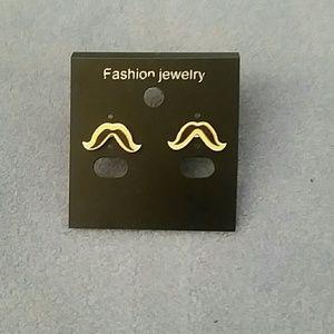 Jewelry - Yellow Mustache Stud Earrings