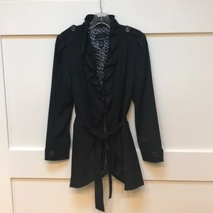 Lightweight black jacket with lots of detail